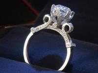 Wholesale 925 silver rings are super flash diamond wedding ring wedding ring with high qual luxury circular diamond ring ms ring