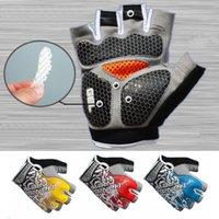 Wholesale Men Women s Sports Gloves Gel Silicone Padded Half finger Gloves Fingerless for Motorcycle Motorbike Motocross Racing Gloves