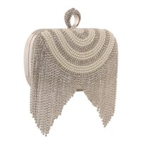 Wholesale Bling Bling Bridal Hand bags Crystal Evening Prom Bags Clutches Elegant Silver Or Gold Bride Accessories In Stock Open