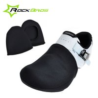 Wholesale RockBros Cycling Shoe Toe Cover Outdoor Sports Wear Bike Shoe Toe Cover Bicycle Protector Warmer Boot Cover Black Size EUR