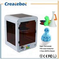 Createbot Mini extrudeuse double métal 3D complète High Precision kit d'imprimante 3d entièrement assemblé avec 1 rouleau filament + 8 Go carte SD gratuite