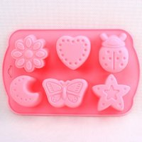 Wholesale 50pc hole Insect heart Star Silicone Cake Molds Fandont Chocolate Mould DIY Cake Stencil Cupcake Cake Cooking Tools free ship