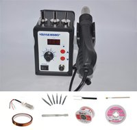 digital rework station - YOUYUE D V W ESD Soldering Station LED Digital SMD Solder Heat Gun Blowser Hot Air Gun Rework Station With Free Gifts