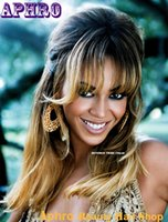 beyonce wigs for sale - With Bangs Beyonce haircut Summer Blond Ombre Glueless Full Lace Wigs For Sale density B High Quality Indian Hair Lace Front Wigs