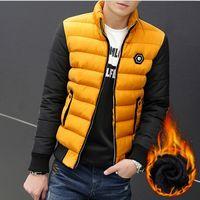 add down outerwear - Fall HOT Winter Man Warm Parkas Plus Size M XL ADD Fleece Outerwear New Korean Men Fashion Down Jackets