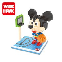 Wholesale Mickey Mouse Action Figures Cosplay Super Hero Basketball Fun Toys Cartoon Animals Model Mini DIY Blocks Gift For Children