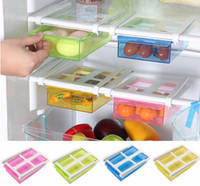 Wholesale Slide Kitchen Fridge Freezer Space Saver Organizer Refrigerator Storage Rack Shelf Holder Drawer