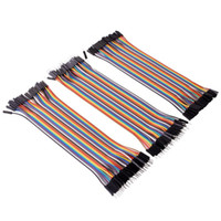 Wholesale 120pcs Multi color pin Male to Female pin Male to Male pin Female to Female Breadboard Jumper Wires Ribbon Cables Kit for Raspberry