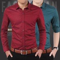 Wholesale New fashion casual men s shirts long sleeved shirts men men s shirt Slim Sexy color size