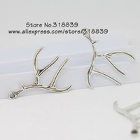 antlers lot - Antique Metal Antlers Charms for Jewelry Making DIY Handmade Christmas Deer Pendant Charms mm
