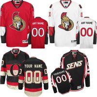 Wholesale 2016 Customized Men s Ottawa Senators custom Any Name Any Number Ice Hockey Jersey Authentic Jersey Stitched Accept Mix Ord size S XL