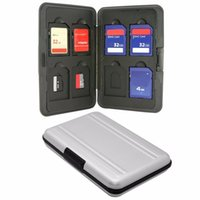 Wholesale SW1301 Silver Micro SD MicroSD TF Card Holder SDXC Storage Holder Memory Card Case Bag Protector Metal Aluminum