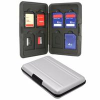 bag memory cards - SW1301 Silver Micro SD MicroSD TF Card Holder SDXC Storage Holder Memory Card Case Bag Protector Metal Aluminum