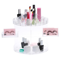 Wholesale Cosmetic Display Storage Box for Women Accessories Makeup Organizer degree Rotating Hold up to Items DIY W2091
