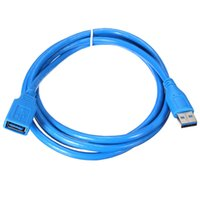 Wholesale 1 m Fast Speed USB A Male To A Female Cables Socket Ft Extension Cable Cord Extender For Computers Tablets Laptops Blue