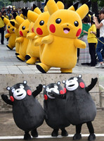 Wholesale Top Grade Pikachu Kumamon Mascot Costume Professional Cartoon Anime Character Adult Mascot Costumes Party Suit Halloween Costumes