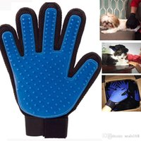 Wholesale DHl True Touch Pet Puppy Dog Cat Grooming Cleaning Glove Right Silicone Massage Removal Dirtly Bath Comb Brush Hair Tools HH G09
