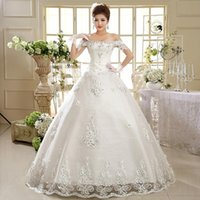 ball cap manufacturers - Newest Korean fashion Manufacturers hot sell new A word shoulder Bridal wedding dresses vestidos a1439