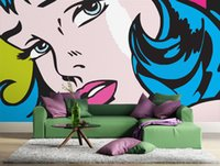 Wholesale Gewu Art Modern pop art style murals TV background background sofa the bedroom background