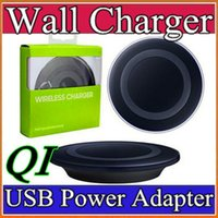 Wholesale 2016Universal Qi Wireless Charger not fast Charging For Samsung Note Galaxy S6 s7 Edge mobile pad with package usb cable can with logo A SC
