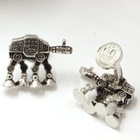 armored plates - Star Wars AT AT All Terrain Armored Transport Cufflinks For Mens Vintage Metal Shirt Brand Cuff Buttons Best Friend Cuff Links