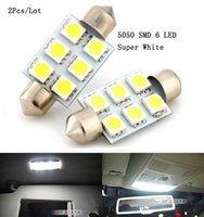 auto door switch - Super White Led mm Festoon SMD LED C5W Car Auto Interior Dome Door Light Lamp Bulb Pathway lighting V Work Lamp