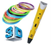 Wholesale 3d printer pen Drawing ABS filament painting graffiti D Printing d pens for kids birthday present Useful gifts D DIY pen