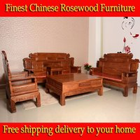 Cheap 6pcs African rosewood Living Room solid rosewood sofa chinese Ming Dynasty style rosewood furniture