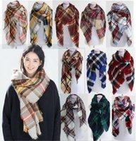 Wholesale 2016 Women Fashion Plaid Scarf Warm Soft Winter Pashmina Blanket Scarf Oversized Tartan Scarf Women Shawl Scarf Scarves Wraps