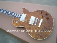 Wholesale Manufacture all kinds of the best tiger stripes Lp electric guitar G can be customized as required EMS