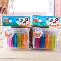 Wholesale Cute Kawaii Silicone Pencil Cap Transparent Pencil Grip School Learning Supplies