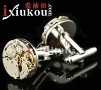 Wholesale New High grade cufflinks Watch movements cufflinks men cufflinks High quality men s fashion jewelry cufflinks XK58