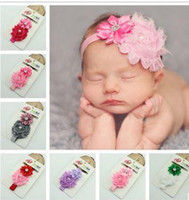bamboo edge banding - 2016 Children s hair ribbons worn drill polygon edges flower baby flower headband elastic elastic hair band hd001