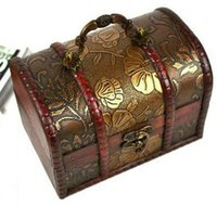 antique lock cover - Receive a case restoring ancient ways fashion European Princess Retro wooden box Chinese antique storage box can be changed to lock shooting