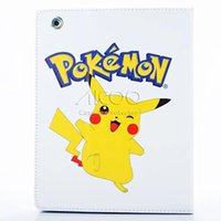 auto screen printing - poke mon go charmeleon pikachu bulbasaur cartoon pattern tablet case Stand Cover for iPad air Mini Auto sleep wake OPP BAG