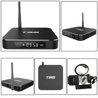 Wholesale T95 Android TV Box Amlogic S905 Quad Core G G Kodi16 WIFI GHz LED Display