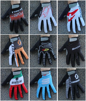 Wholesale Winter thermal fleece cycling long gloves sport ciclismo winter cycling gloves bicycle long finger bike gloves differnt colours variety B