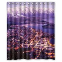 bathroom products australia - Australia Coast Mountains Queenstown Night Animals Bathroom products Fabric Bath Shower Curtain x180cm Home Decor