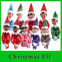 Wholesale 2016 Stock Ready Style Christmas Elf Toys On The Shelf Elves Xmas Dolls For Kids Holiday And Christmas Gift DHL Free