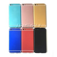 aluminum housings - Mirror Aluminum Back Housing Case for iPhone S Ultra thin Luxury Colorful Cell Phone Housings Faceplates Back Covers for Apple S