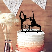 ballet cake decorations - Personalized Unique Wedding Cake Toppers Ballet Couple Silhouette Customized Your Name and Wedding Date Cake Decoration