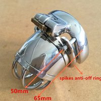 Wholesale Easy to pee design mm device length mm cage length metal male chastity devices for men