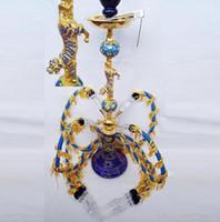 alloy steel pipes - Queen four zinc alloy Arab Hookah glass hookah smoking pipe Glass gongs oil rigs glass bongs glass hookah smoking pipe vap vaporizer
