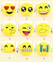 Wholesale New Arrival Cute QQ Emoji Plush Bolster Emoji Smiley Expression Emotion Pillow QQ Stuffed Cushio Plush Toy Doll Size in cm cm cm