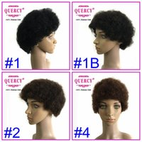 Wholesale Afro Curly Wigs Brazilian Virgin Hair Wigs Human Hair Wig Machine Tied Wig for Black People Quercy Wig