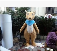 belly the movie - 2016 new forest animals kangaroo mascot costume brown body white belly pocket the kangaroo mascot costume