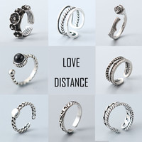 Wholesale S925 rings for women pandora styles silver rings vintage band rings mixed designs jewelry cheap bulk price