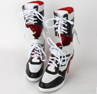 Wholesale Fast Shipping Warner Bros Movie Suicide Squad cosplay Harley Quinn cosplay shoes boots DC Comic Batman Suicide Squad