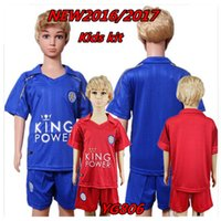 Wholesale 2016 Thai high quality children s clothing for Leicester City home Football jacket MAHREZ VARDY Kids