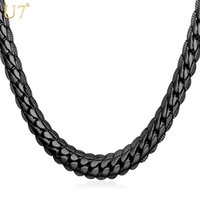 Wholesale New Black Long Necklace For Mens Fashion Gun Plated Trendy Size MM Wide Snake Chain Necklace Men Jewelry N559